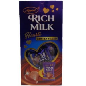 Rich Milk Hearts Center Filled Appral Chocolates
