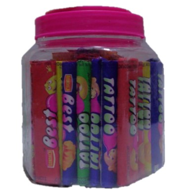 Best Tattoo July Bubble Gum offering Rectangular Yes Chewing Gum With Tattoo at Rs 25/jar in Delhi, Delhi. Get best price and read about company and get contact