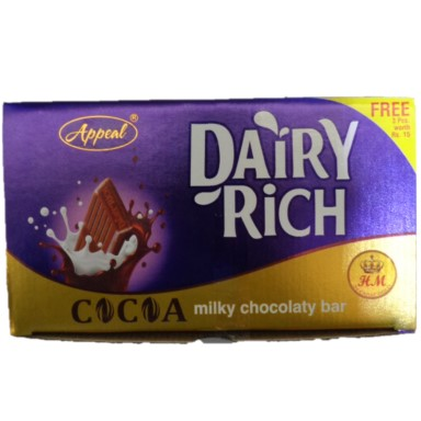 Dairy Rich Milky Chocolaty Bar 1