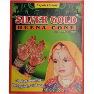 Silver Gold Heena Cone