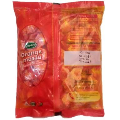 Orange Mazza Orange Candyfor Rs.50 Orange Mazza Candy WHOLE SALE PACK Maximum Retail Price : ₹0.50/- (Per Piece) NET WEIGHT : 275GM(100pcs.) M.R.P.₹  : 50/-(₹0.50 Per Piece)